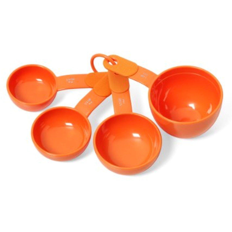 Kitchenaid classic plastic measuring cups tangerine set