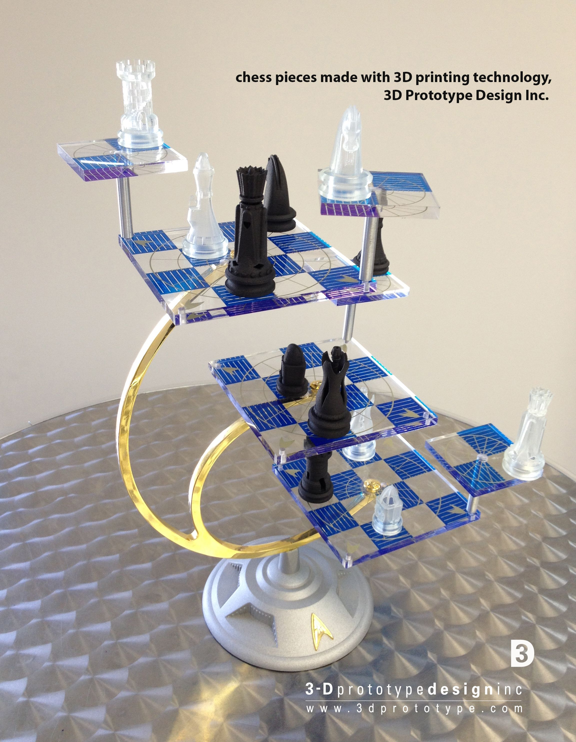 Star Trek 3d Chess Set All The Pieces Were Printed Using Circuit Board Maker Buy Makershenzhen Different Printing Methods And Materials Such As Sls Nylon Carbon Fiber
