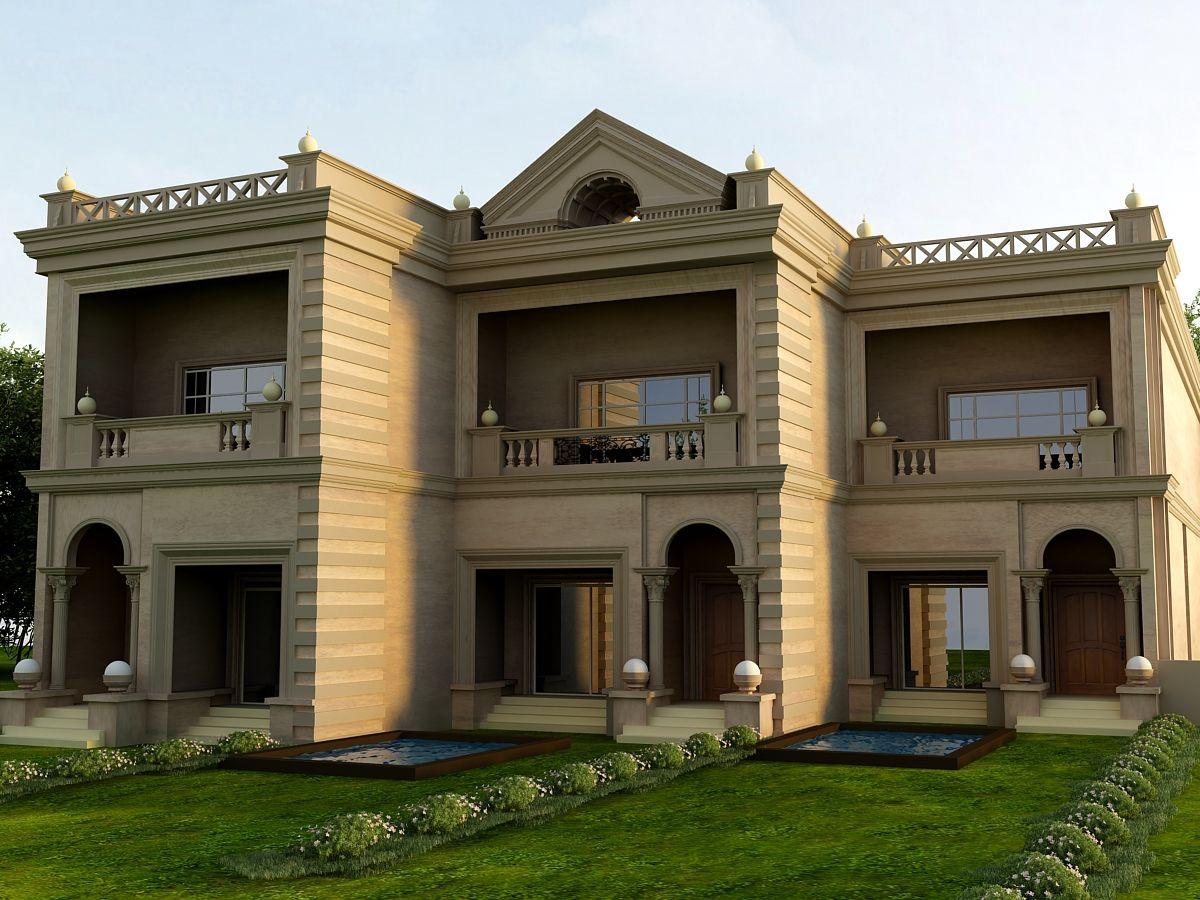 نموذج للفلل من الشركة المصرية للتنمية فى هليوبوليس الجديدة الان تستطيع ان تمتلك فيلا بمساحات تبدأ من 260 متر الى 678 متر بالتقسيط House Styles Mansions Villa
