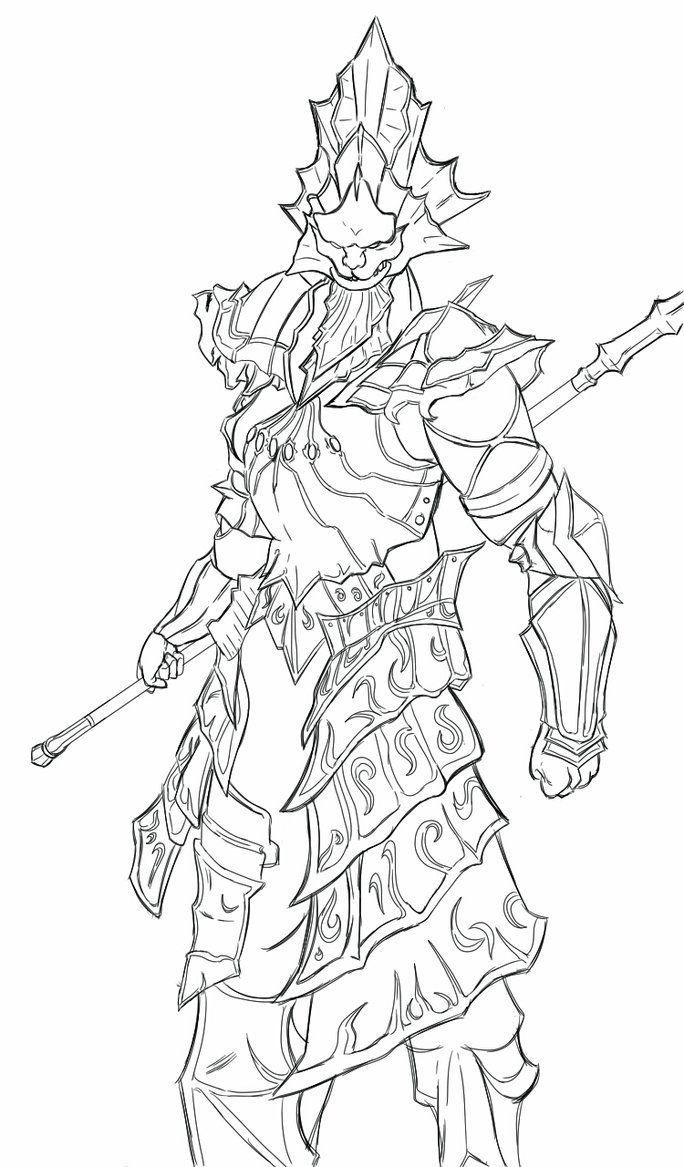 Dark Souls: Ornstein/Old Dragonslayer (Line Work) by
