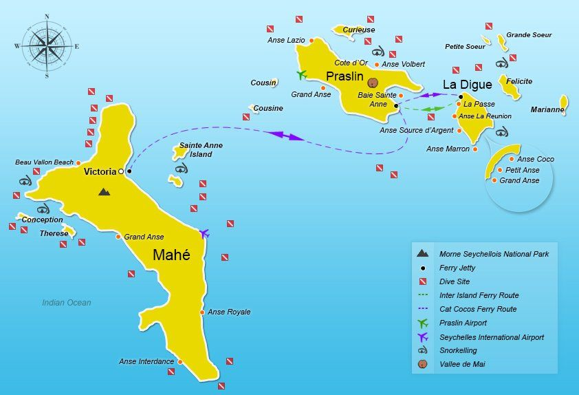 Seychelles Ferry From Mahe To Praslin And La Digue Seychelles
