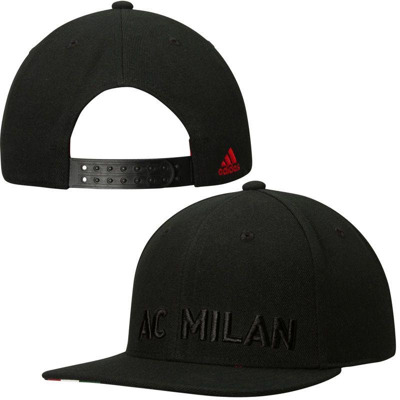 ... netherlands ac milan adidas club snapback adjustable hat black 54dae  fa4b0 7b6a589d5bb