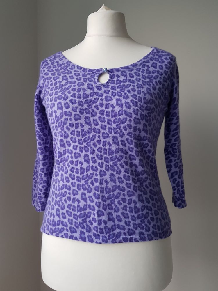 fe9ad91fbd6 Beautiful Laura Ashley size S Purple Leopard Print Lambswool Angora mix  Jumper  fashion  clothing  shoes  accessories  womensclothing  sweaters  (ebay link)