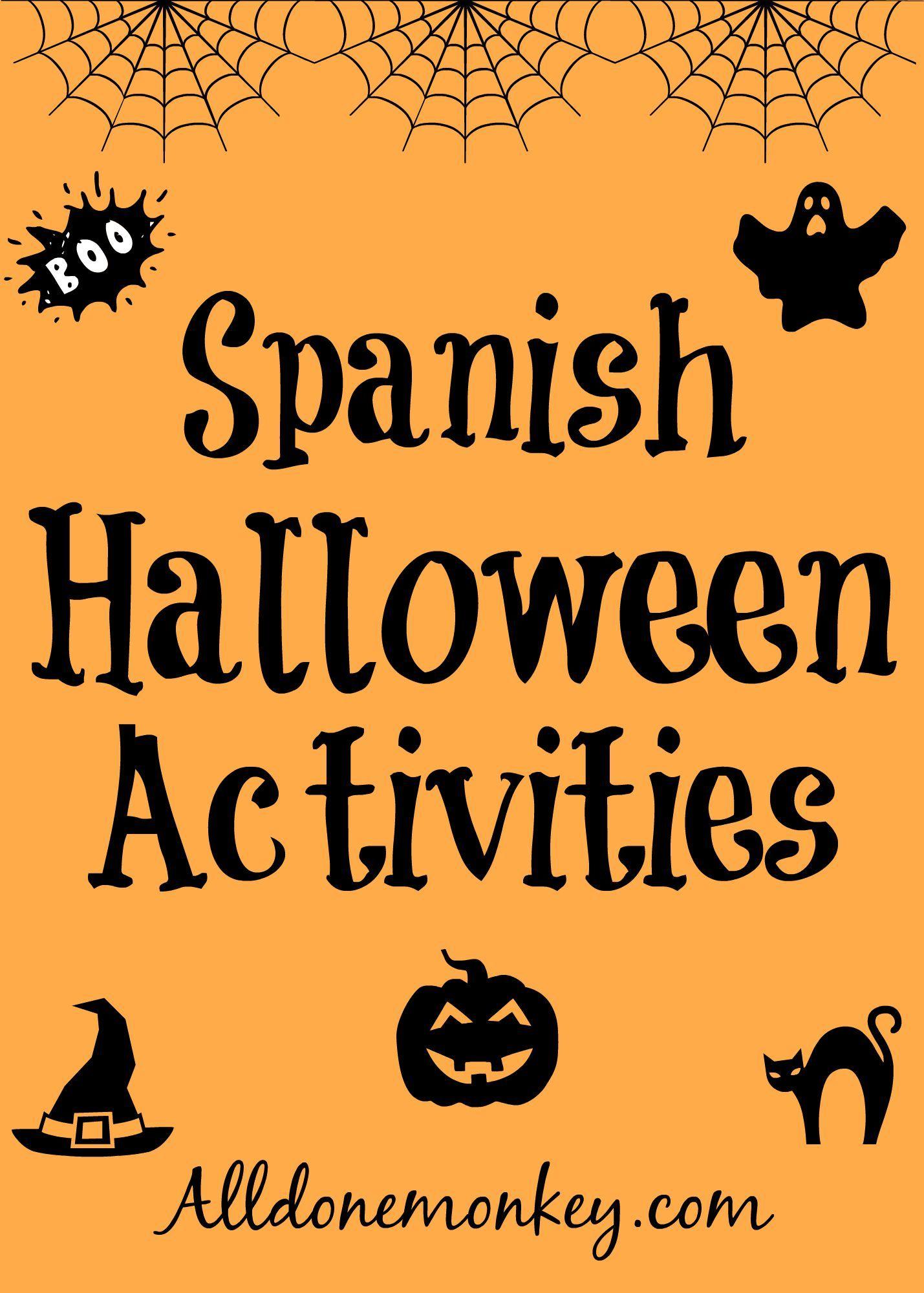 Spanish Halloween Activities #halloweenactivities