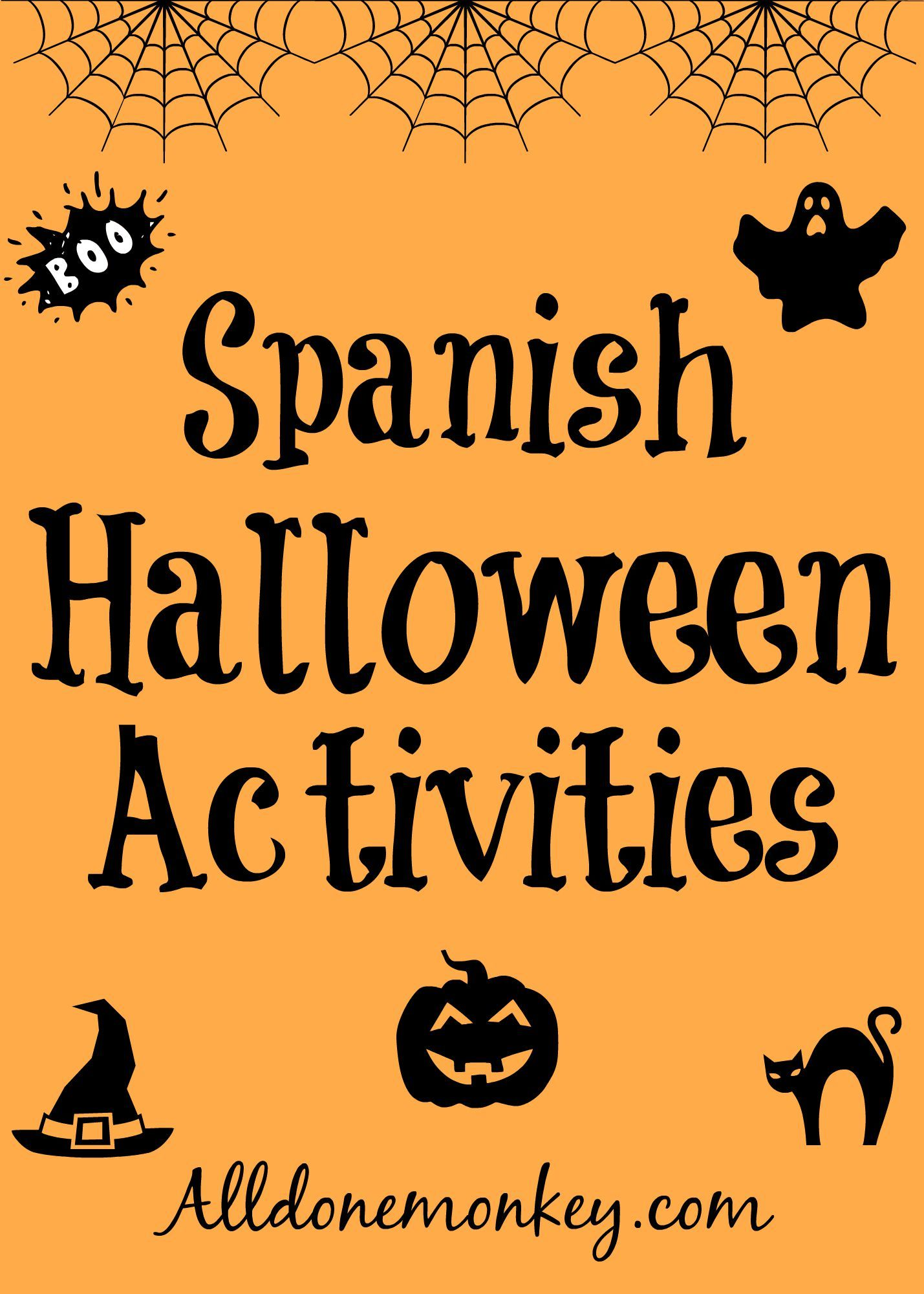 Spanish Halloween Activities   Halloween fun, Spanish and Activities