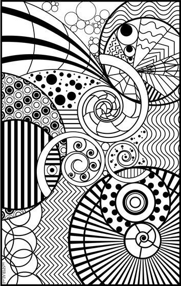 InSPIRALed Adult Coloring Page | color me now | Pinterest | Colores ...