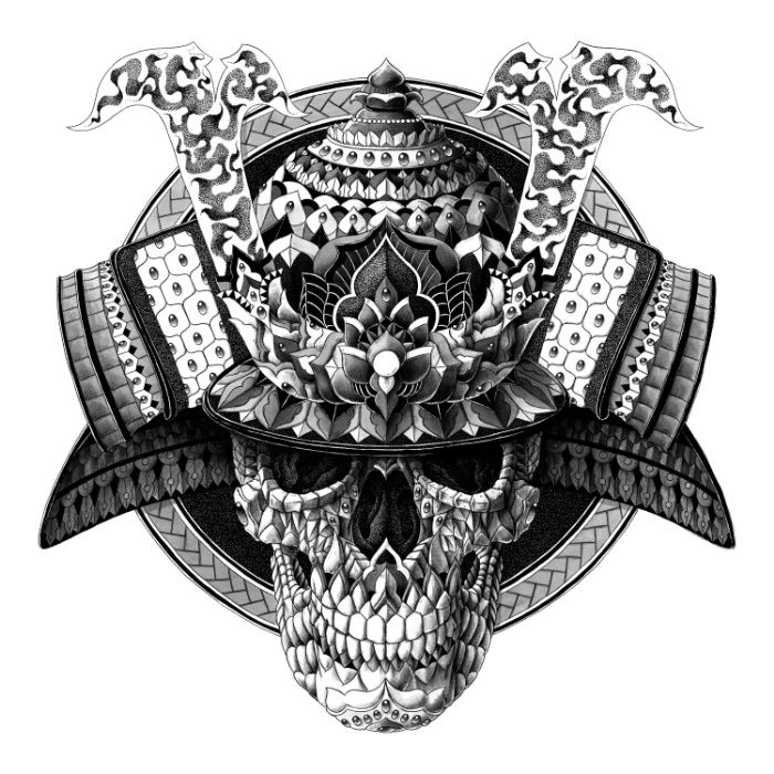 samurai skull art print skulls totenkopfe black white pinterest drachen einfach und bilder. Black Bedroom Furniture Sets. Home Design Ideas