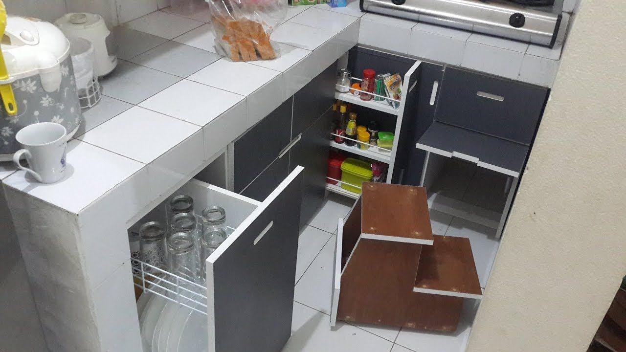 Membuat Kitchen Set Bawah Part3 Pemasangan Pintu Dan Laci Kabinet Dapur Dapur Skandinavia Dapur Luar Ruangan