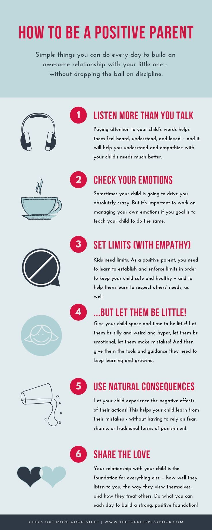 6 Simple Things Positive Parents Do Every Day is part of Smart parenting, Parenting teens, Good parenting, Parenting toddlers, Gentle parenting, Positive parenting - Learn what positive parents do every day to build a healthy relationship with their little one  without dropping the ball on discipline