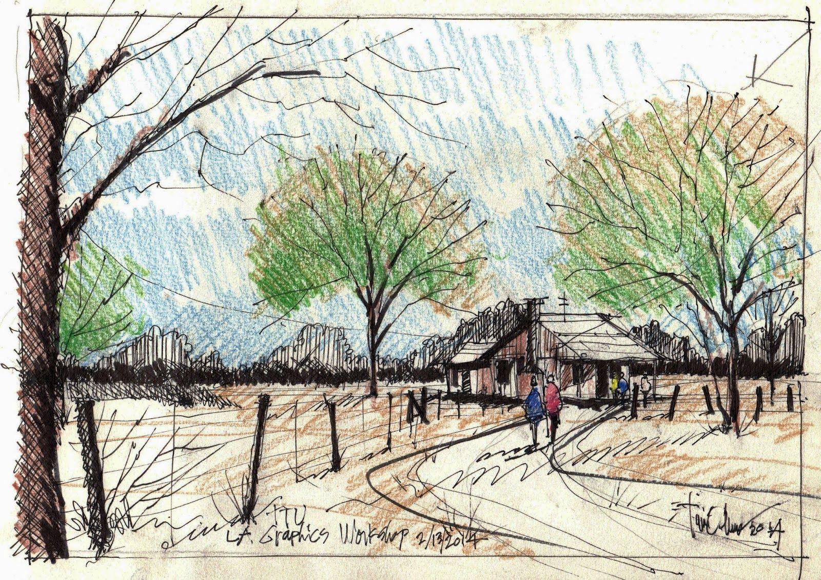 A Few Sketch Exercises Landscape Sketch Watercolor Images