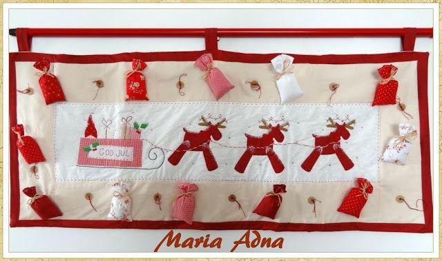 Patchwork Maria Adna: Patchwork, bolsas, bonecas, mantas, panôs, almofadas, trilhos de mesa e afins: Painel As Renas