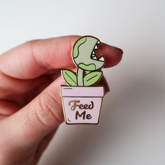Feed Me Venus Fly Trap Enamel Pin