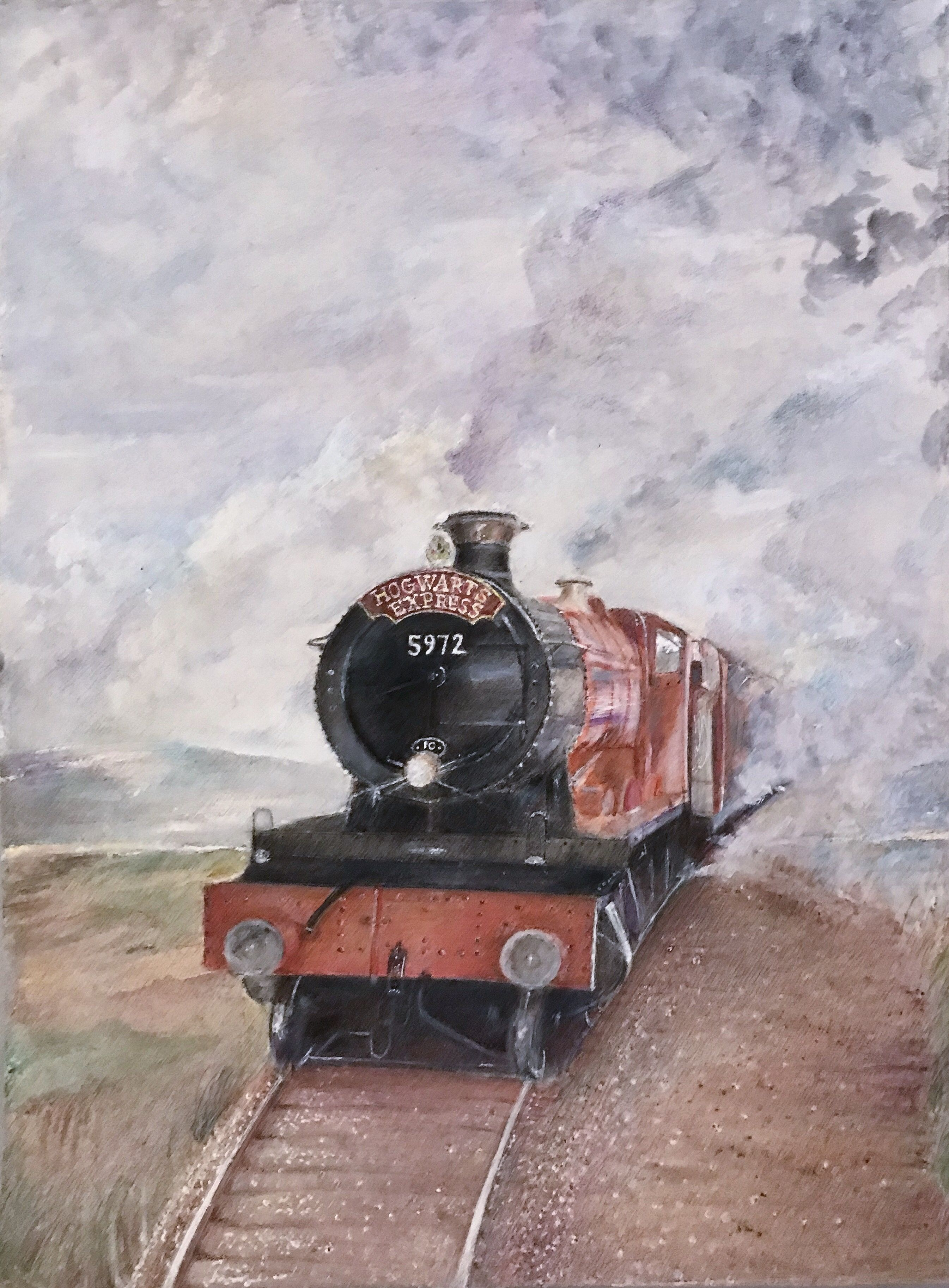 Hogwarts Express By Christine Trabo Harry Potter Sketch Harry Potter Wallpaper Harry Potter Tattoos