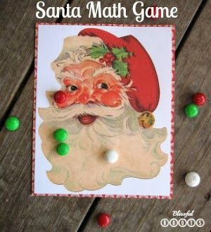 Santa Math Game with Printable {On/Off}