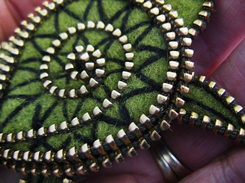 Zipper and embroidery closeup....   by woolly  fabulous