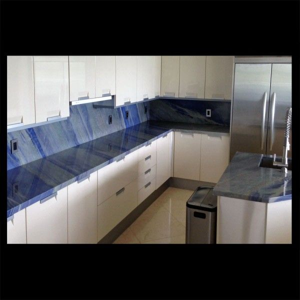 Quartzite imperiale blue natural stone imperial blue for Perfect kitchen fabrication