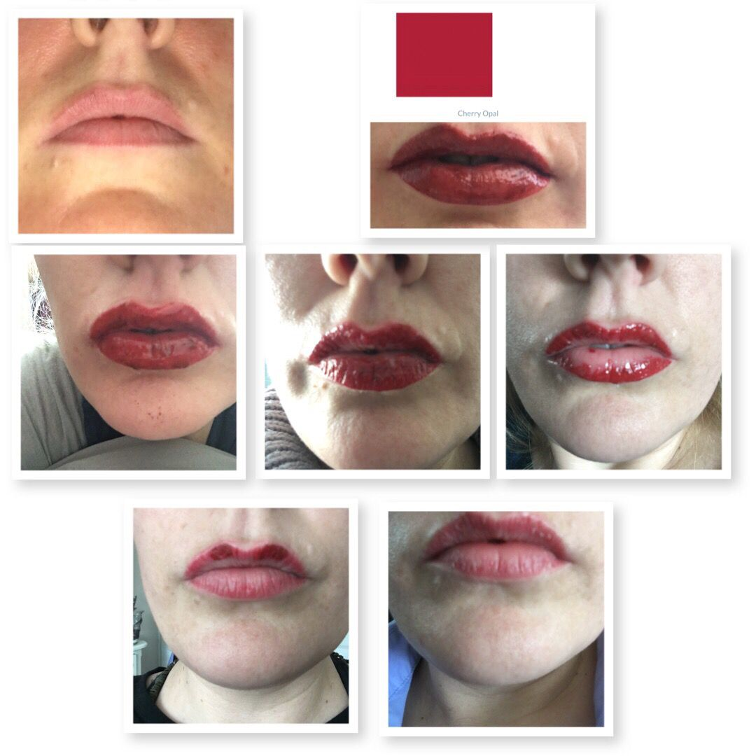 My lips 6 day process a lovely vibrant colour