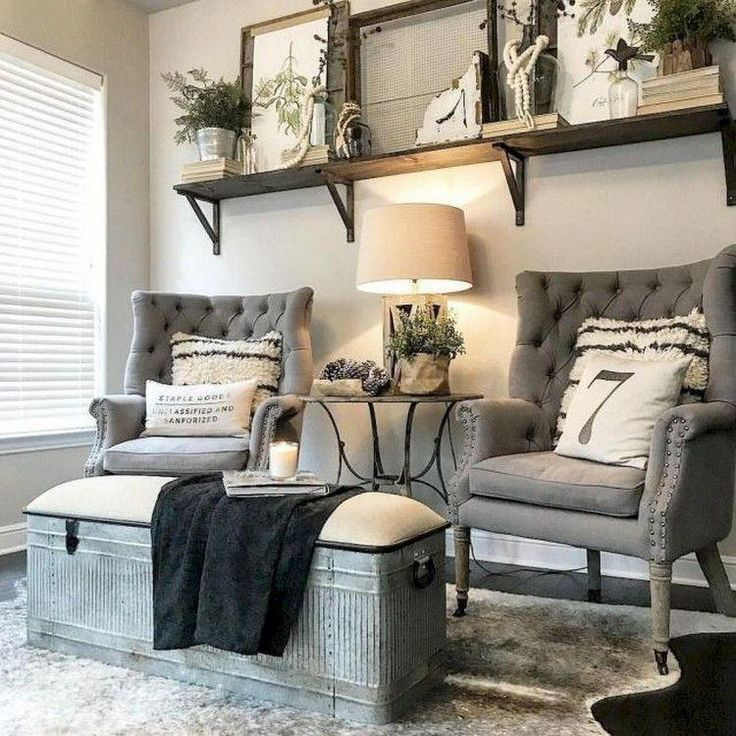 surprising industrial farmhouse living room design ideas | 80+ Creative Farmhouse Living Room Decor Ideas # ...