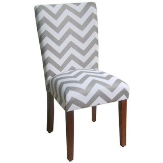 Parson Grey/ White Chevron Dining Chair (Set Of 2)   Overstock™ Shopping