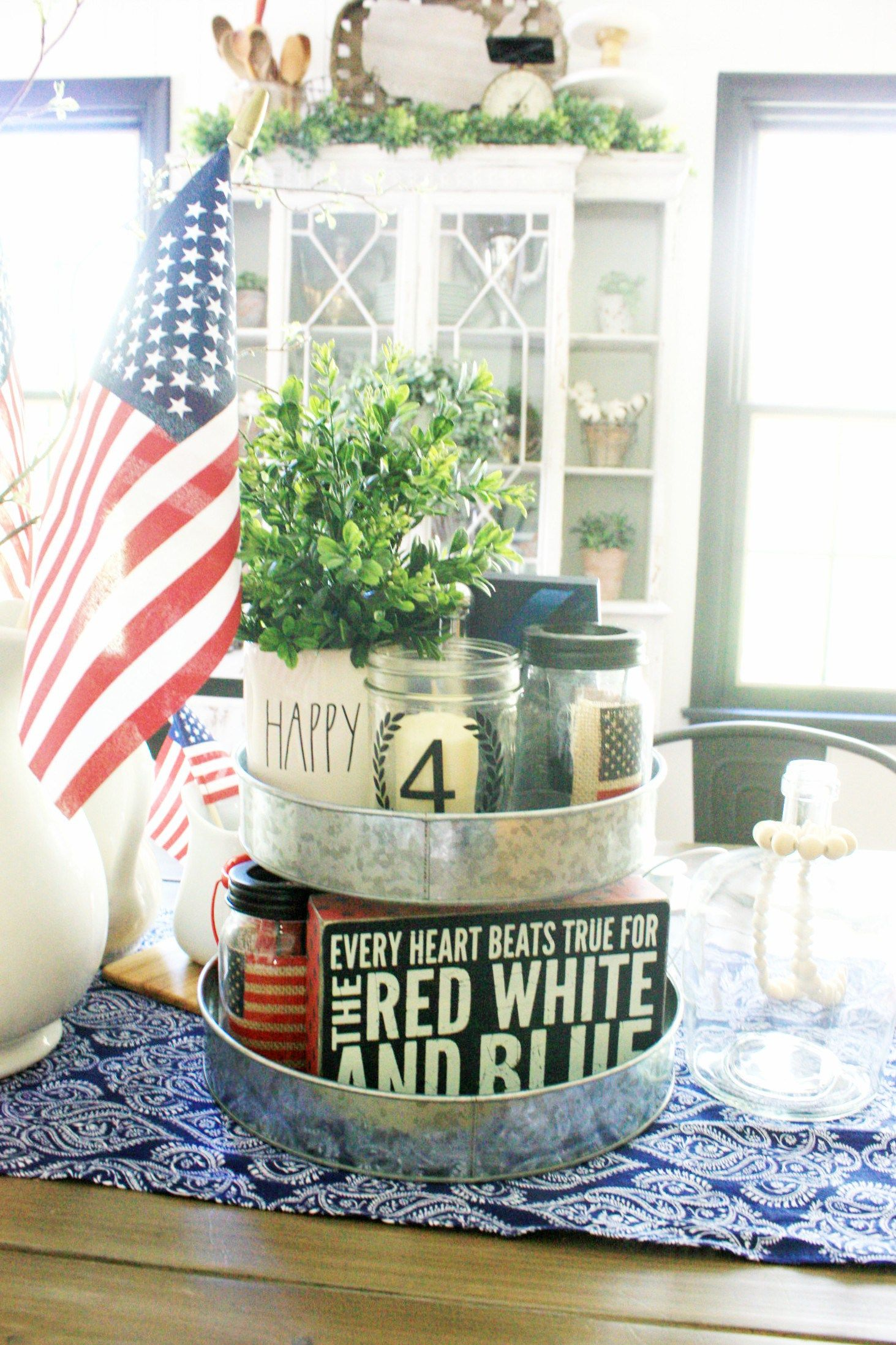 Decorating A Tiered Tray For The 4Th Of July, Add