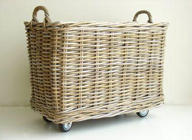 put casters on a big basket