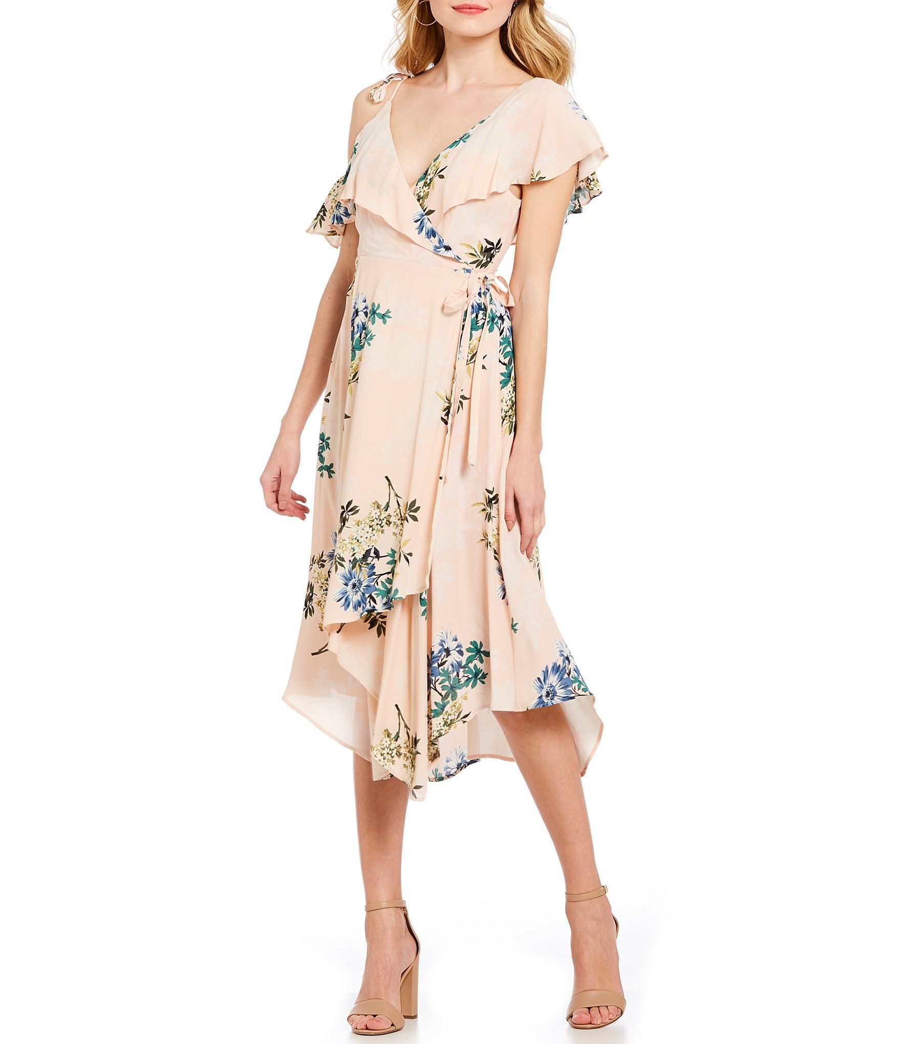 Shop For ASTR The Label Yessenia Faux Wrap Style Midi