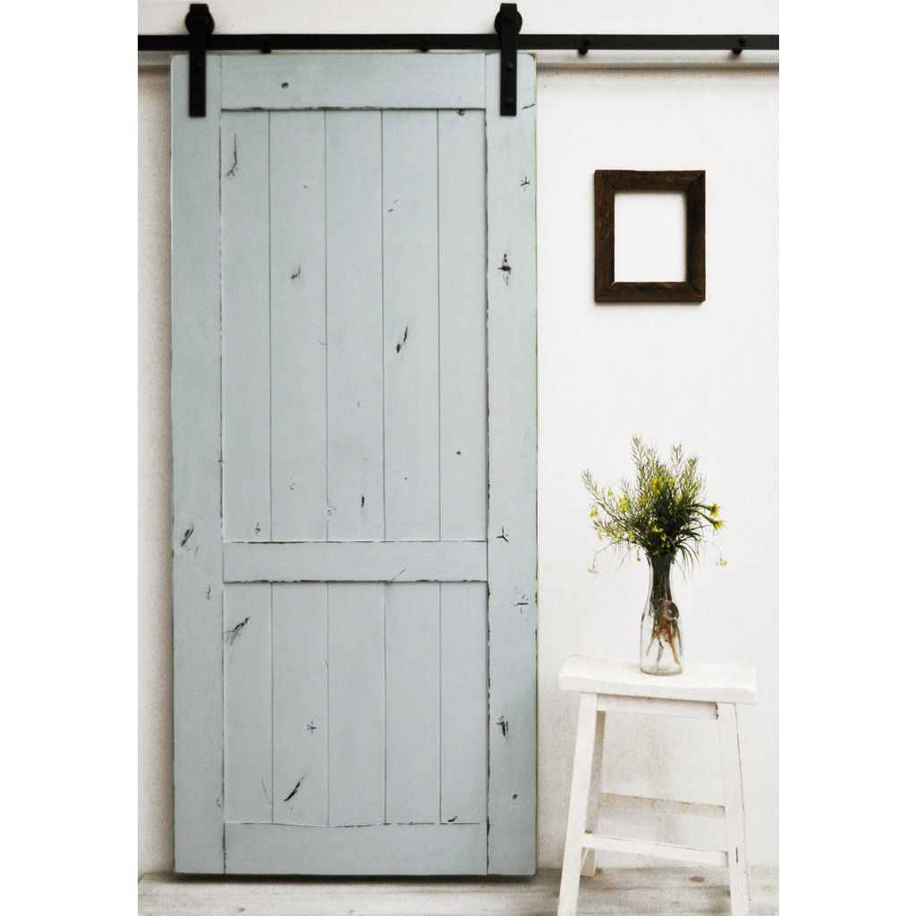 The Country Vintage Barn Door Features A Lightly Distressed Finish On A  Classic