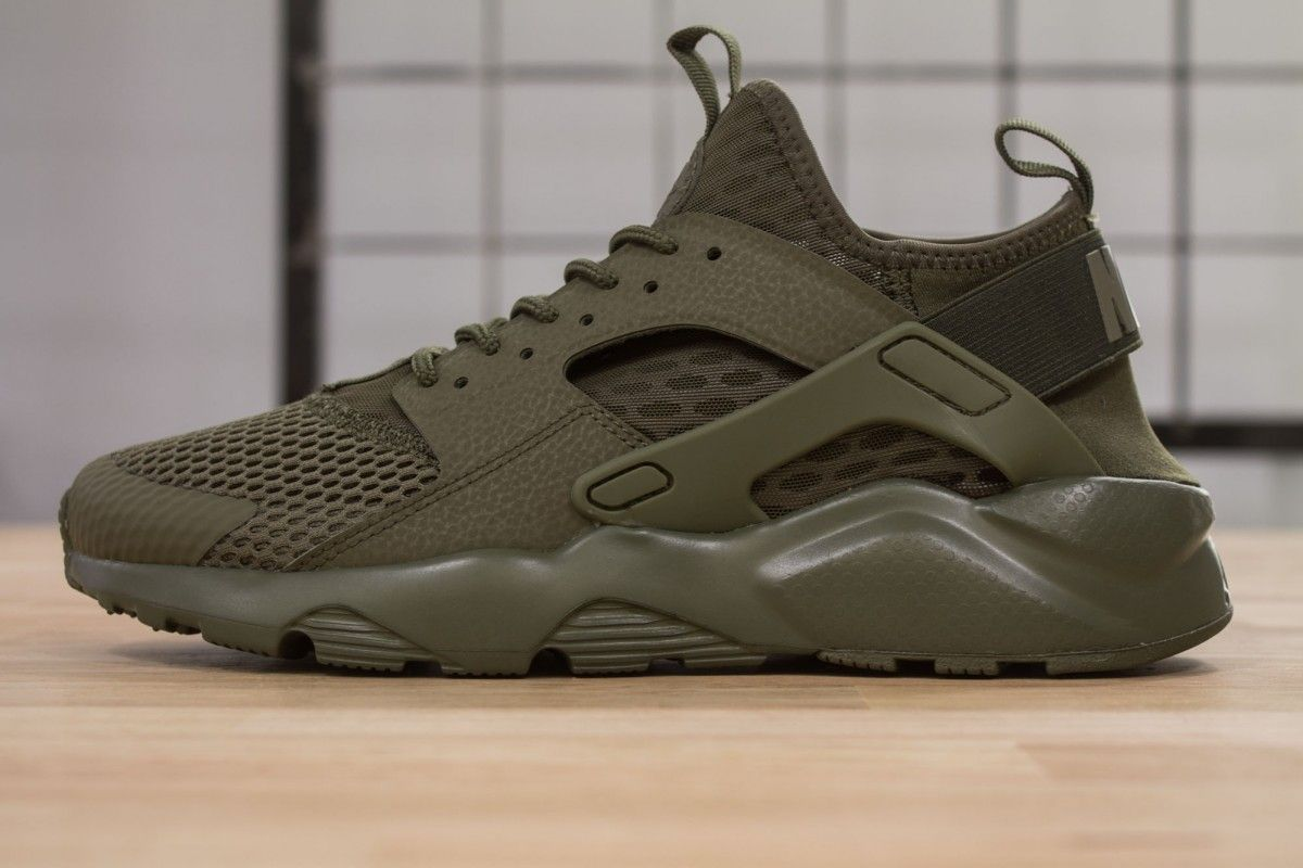 nike air huarache run ultra br medium olive www. Black Bedroom Furniture Sets. Home Design Ideas
