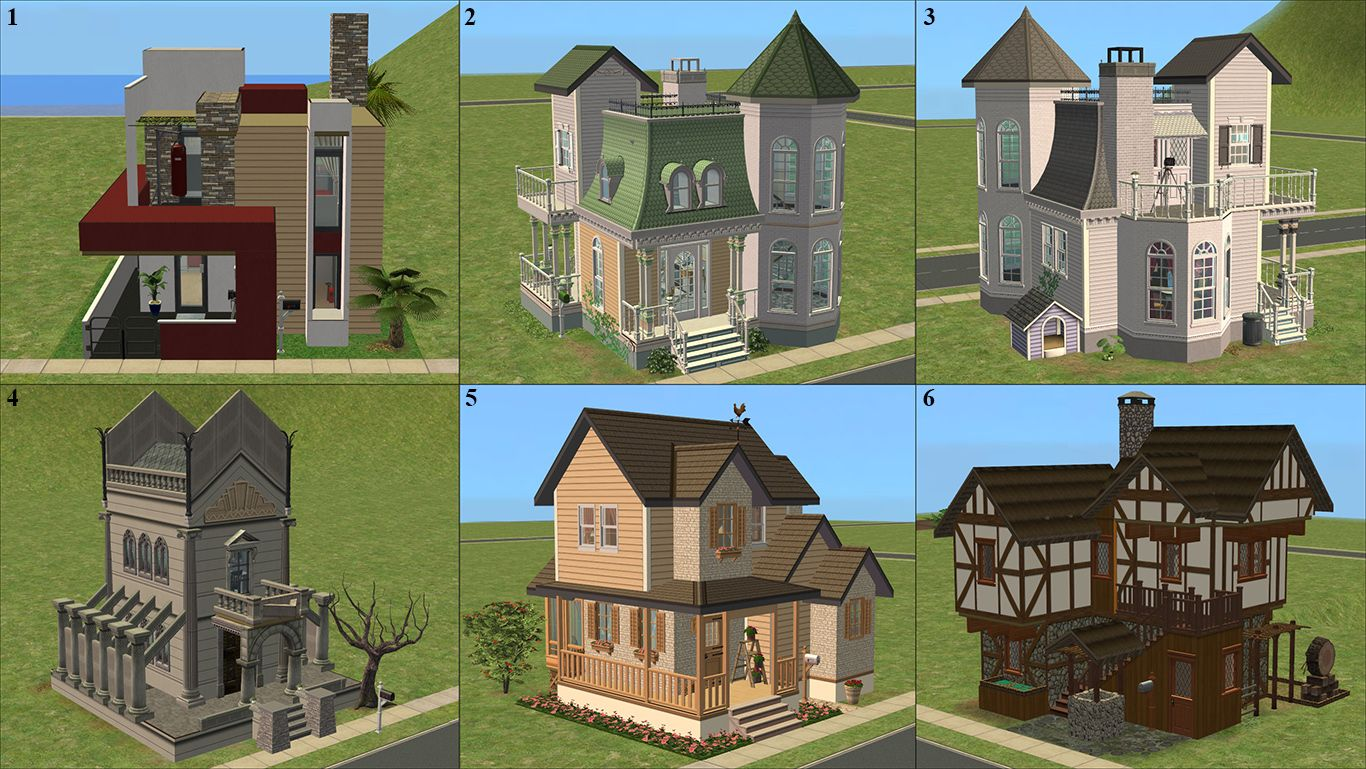 mod the sims tiny starter houses 5 1 lots 1x1 different rh pinterest com