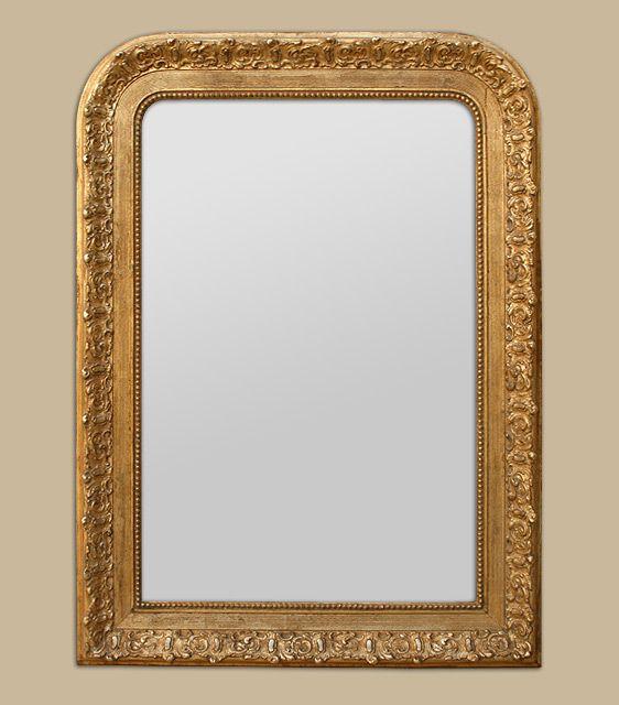 Miroir ancien Louis philippe dorure patiné or miroir