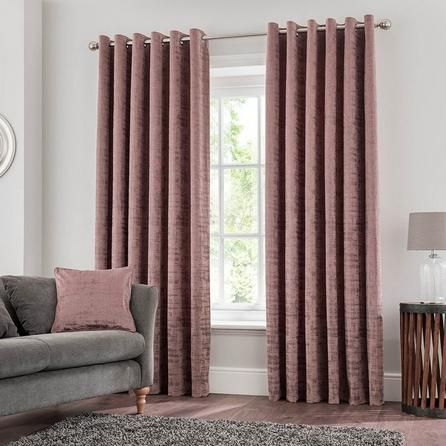 Ruben Mauve Eyelet Curtains Blinds For Windows Living Rooms