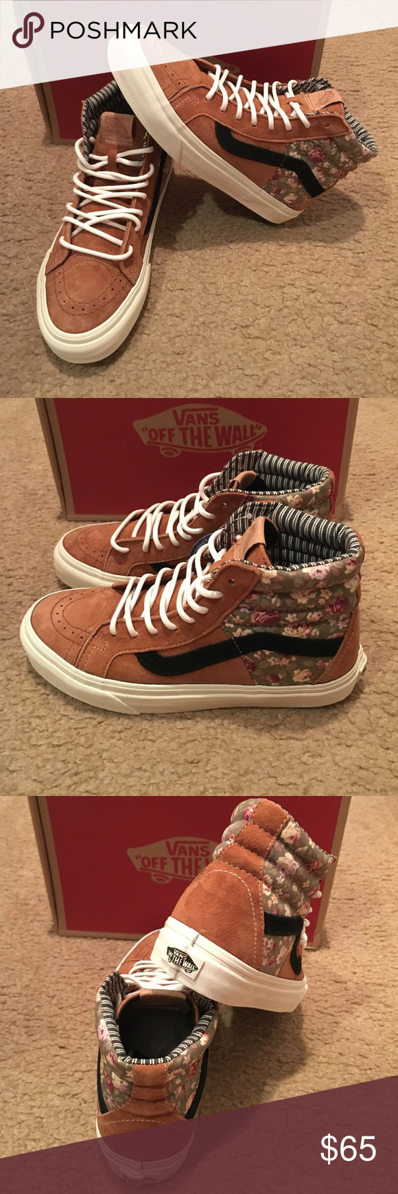 fbdb3fb7a410 Vans SK8-Hi 46 CA Floral Mix Sneakers New in box. Mocha Bisque Vans Shoes  Sneakers