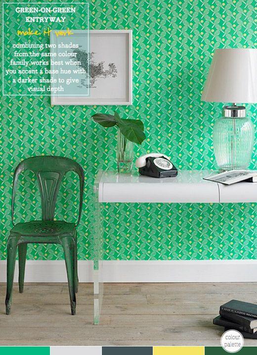 green on green via bright bazaar colourful curios interiors rh pinterest com