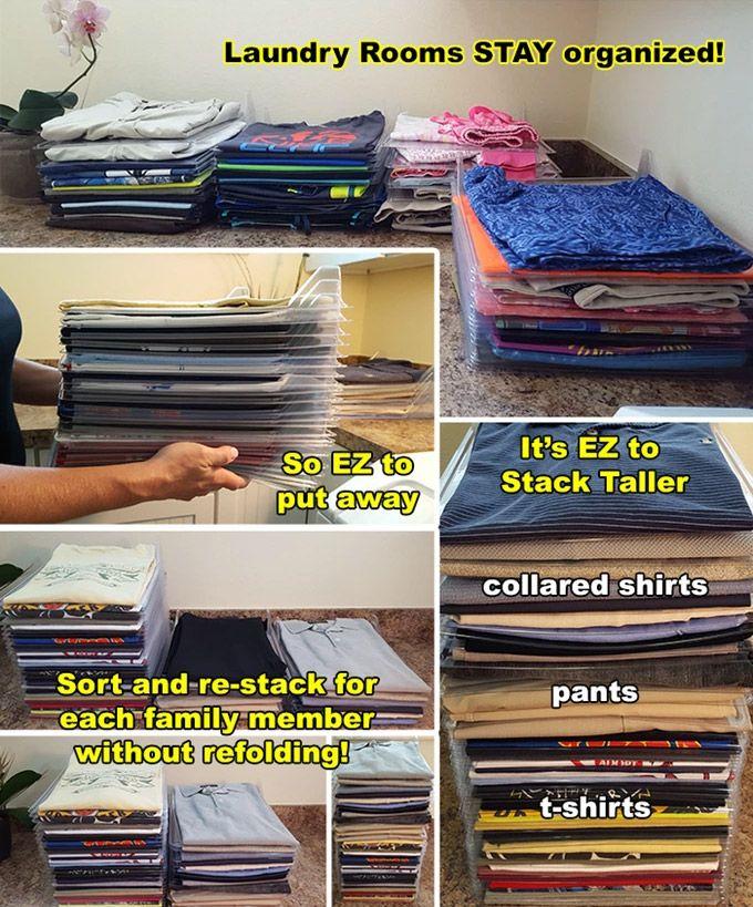 Ezstax interlocking clothing organizer dividers t shirt for T shirt drawer organization