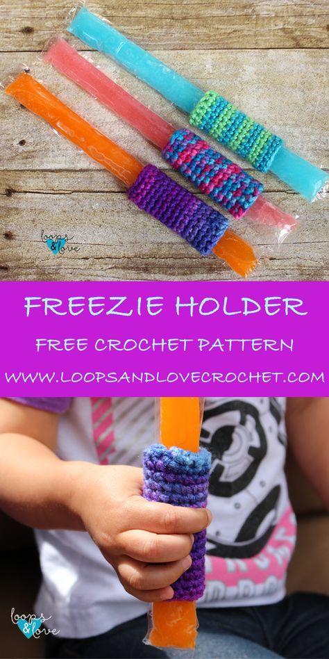 Super Easy Freezie Holders | crochet | Pinterest