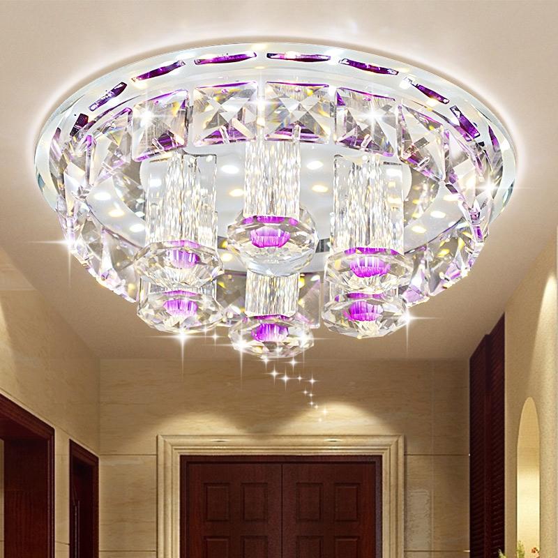 40.00$  Watch now - https://alitems.com/g/1e8d114494b01f4c715516525dc3e8/?i=5&ulp=https%3A%2F%2Fwww.aliexpress.com%2Fitem%2FThe-new-LED-crystal-lamp-bedroom-lamp-aisle-corridor-lamp-circular-entrance-foyer-light-ceiling-lighting%2F32505614817.html - 12W modern living room ceiling light  LED crystal ceiling light  Luxury aisle /corridor/porch ceiling lamp  40.00$