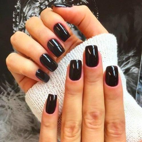 new years nails in 2020  dark acrylic nails trendy nails