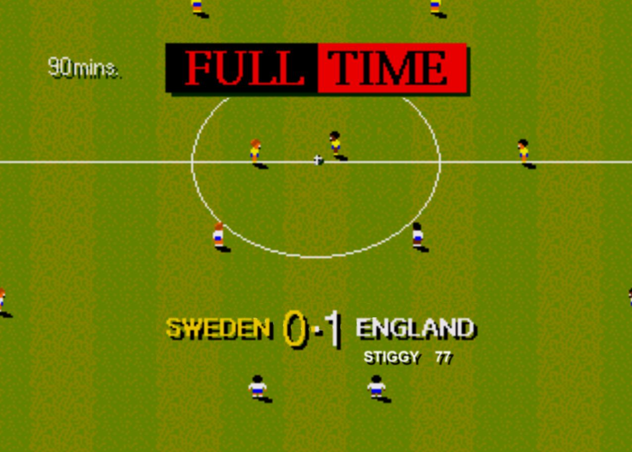 One of the best football games ever made. May as well superglue the cartridge in the Mega Drive.