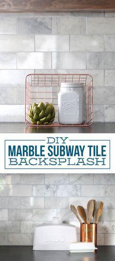 diy marble subway tile backsplash tips tricks and what not to do rh pinterest com