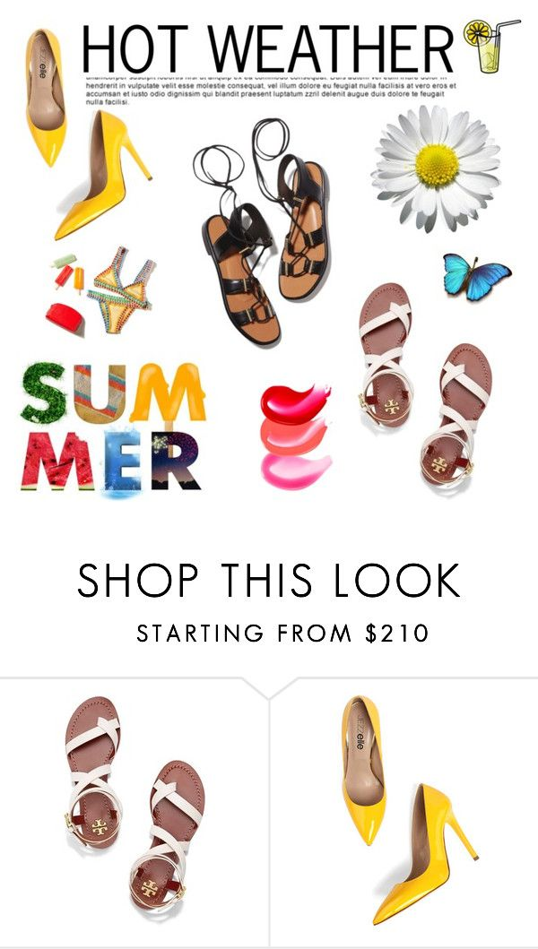 """""""Summer ☀️"""" by timeless-fashion-chic ❤ liked on Polyvore featuring Tory Burch and Rosetta Getty"""