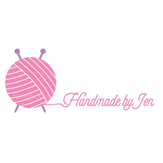 Knitting Logo Ideas : Knitting logo yarn handmade shop by