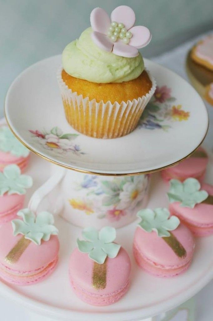 Mint Pink and Gold Tea Party with