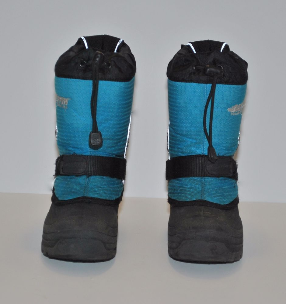 837583580 Excellent Condition! Super Warm Baffin Mustang Snow Boots Blue Sz 2 ...