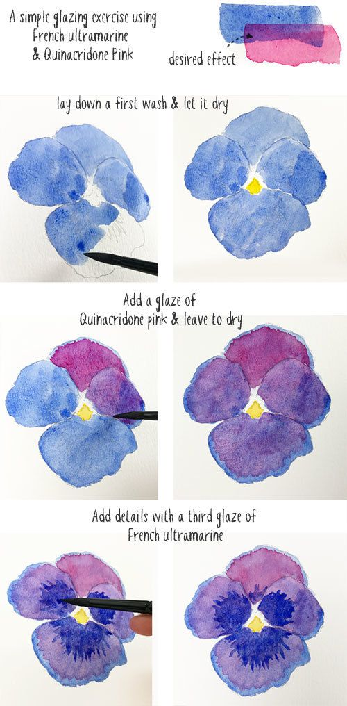 glazing-technique-simple-exercise #easywatercolorpaintings