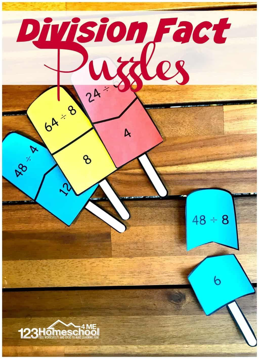 Popsicle Division Puzzles