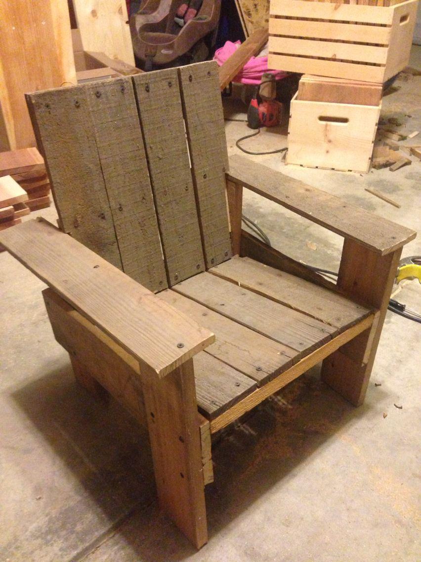 littles chair pallet furniture pinterest bancos de madera rh pinterest es