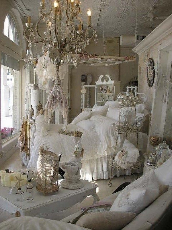 add shabby chic touches to your bedroom design white ecru cream rh pinterest com
