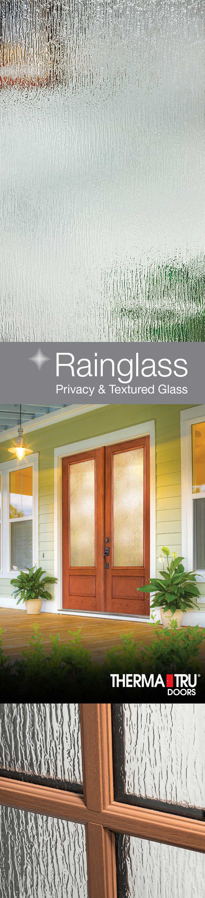 An Elegantly Fashioned Glass Rainglass Features Ripples Of Cascading Water House Front Door Farmhouse Style Glass Texture