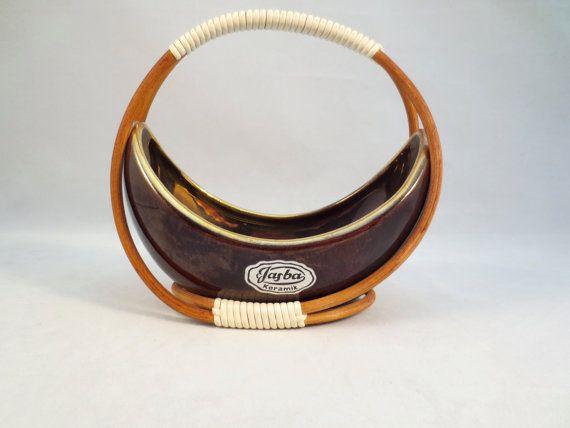 Jasba Keramik Bowl Mid-Century German Pottery $11 by ThriftHorseInc