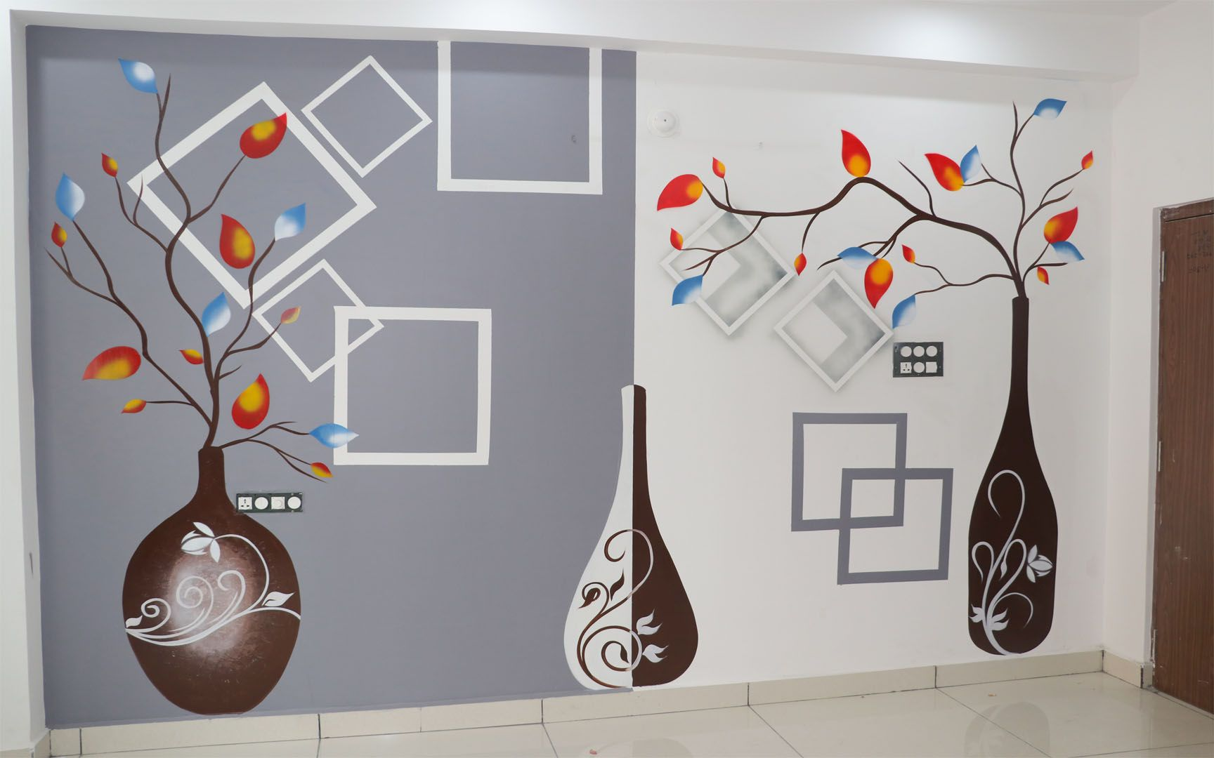 Simple Creative Wall Painting Ideas For Living Room Creative